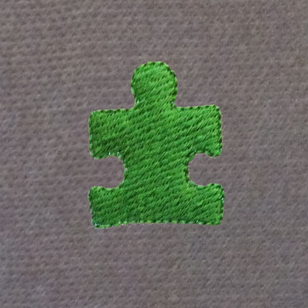 puzzle piece embroidery design