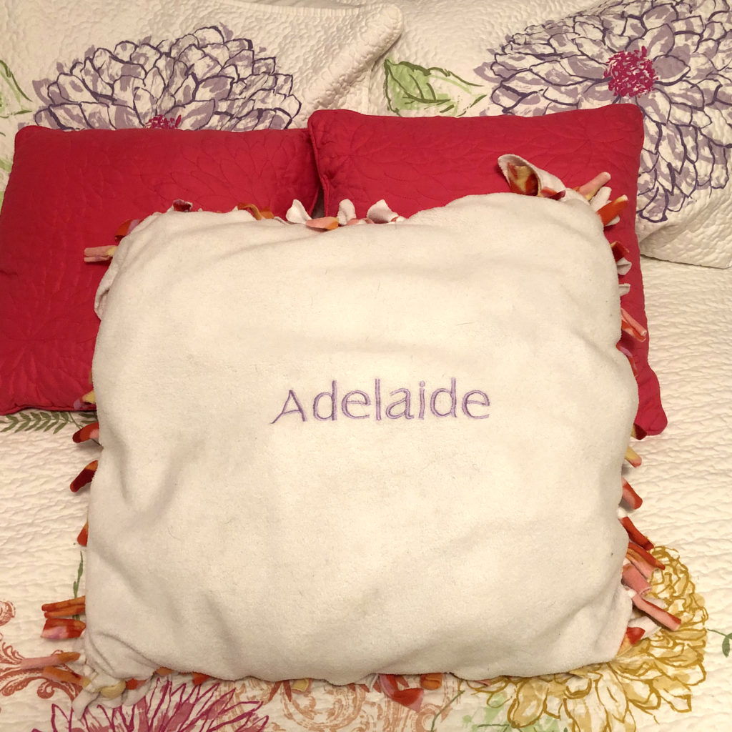personalized fleece pillow