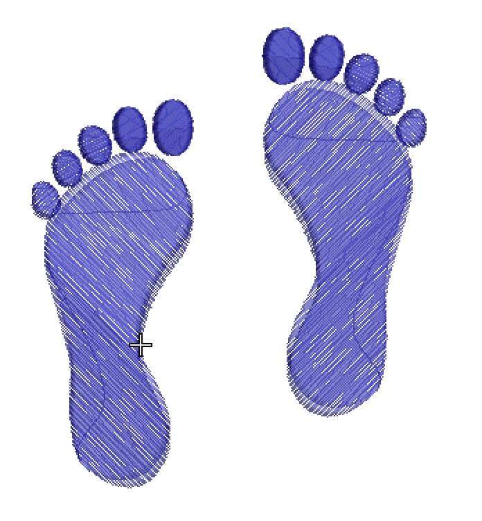 free footprint machine embroidery design