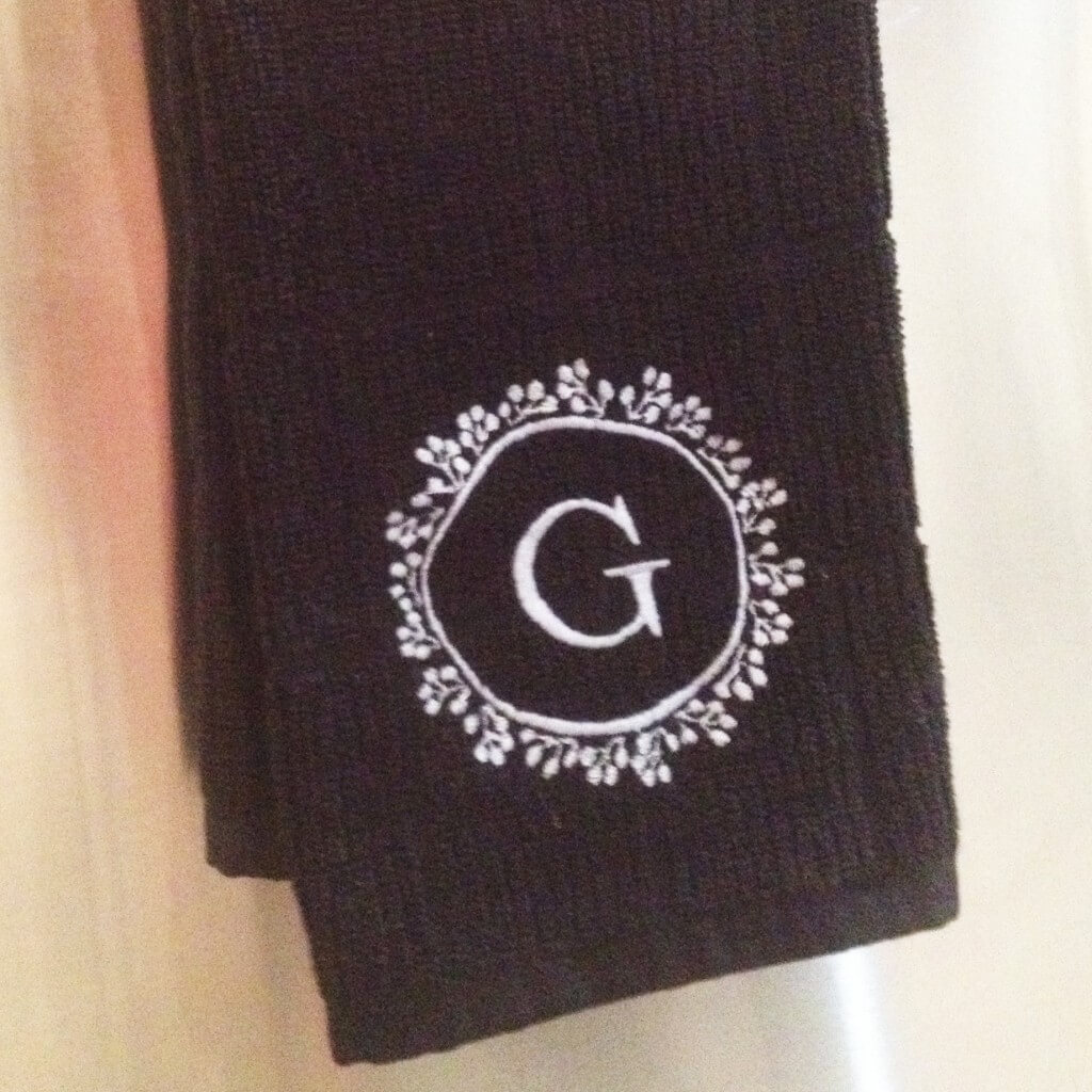 monogrammed kitchen towel