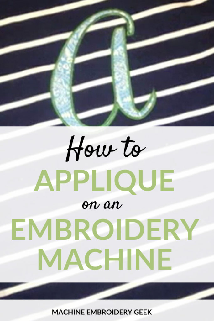 How to applique on an embroidery machine