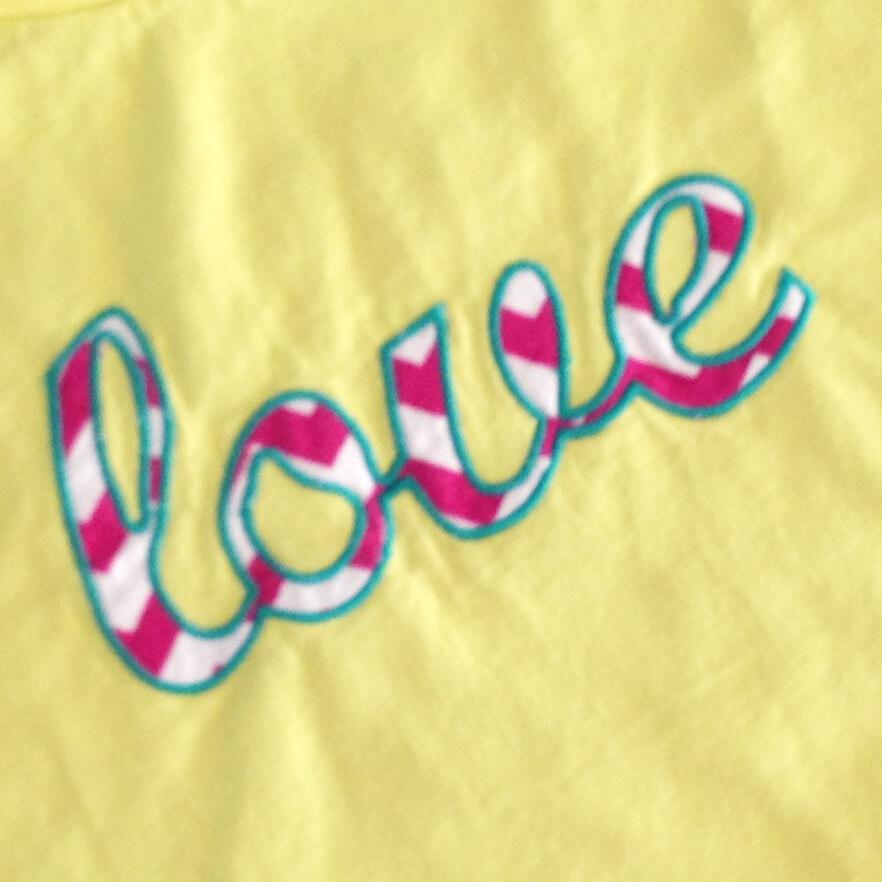 love appliqué design