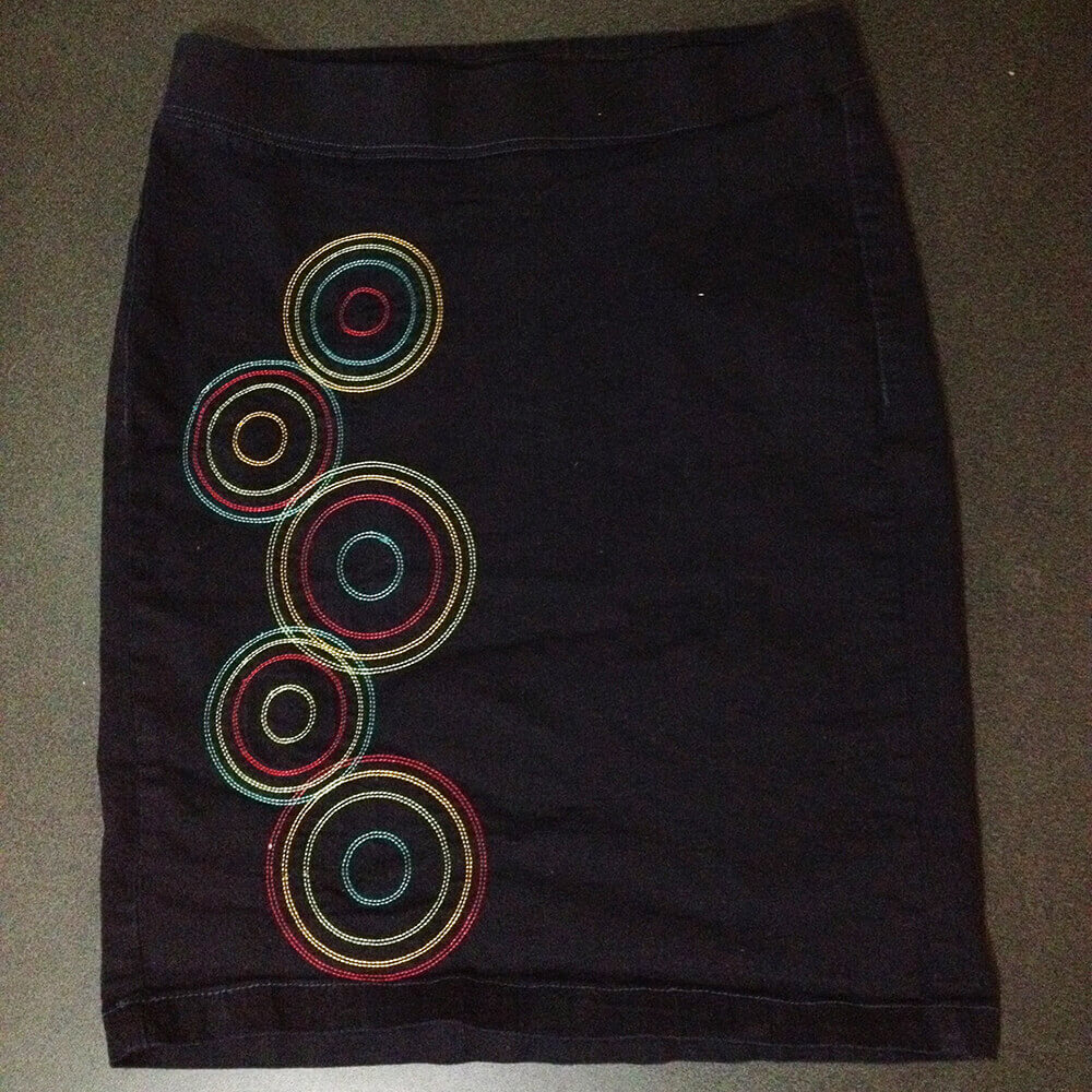 modern circle skirt