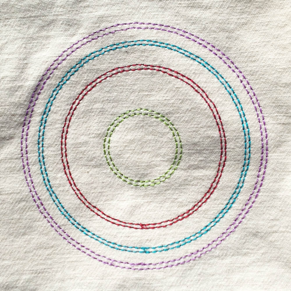 modern boho circles embroidery design