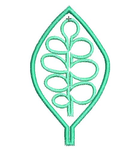 leaf applique