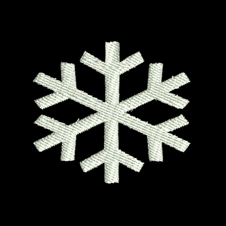 free snowflake embroidery design