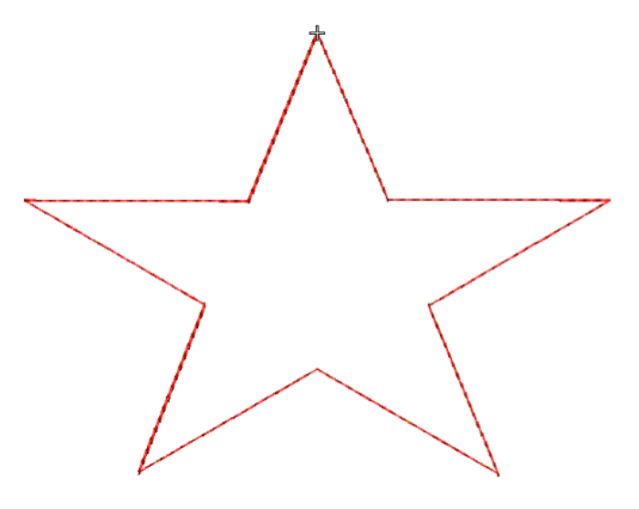 triple stitch star applique design