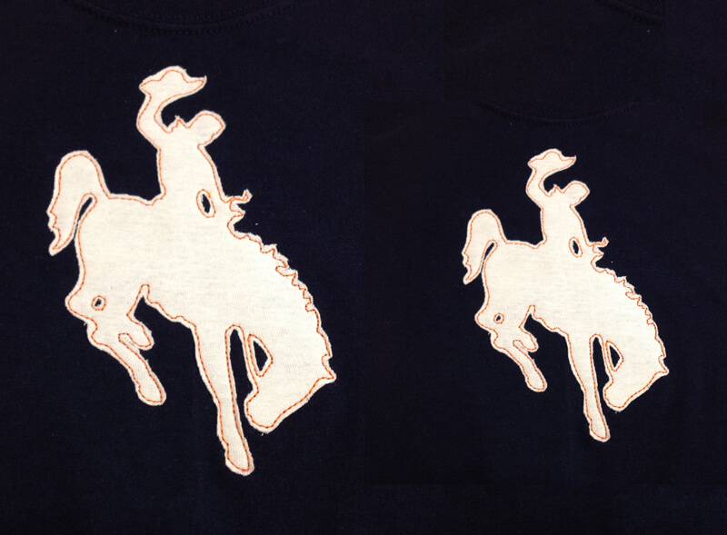 Wyoming guy on horse appliqué