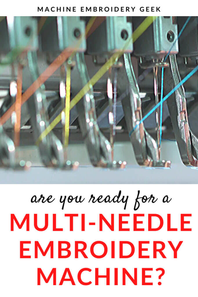 Are you read for a multi-needle embroidery machine?