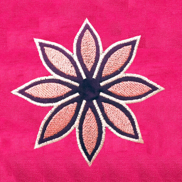 flower medallion for dress