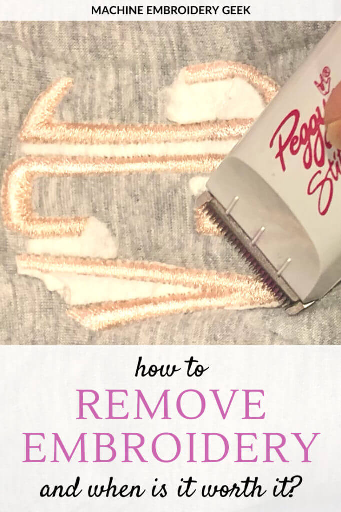 How to remove embroidery