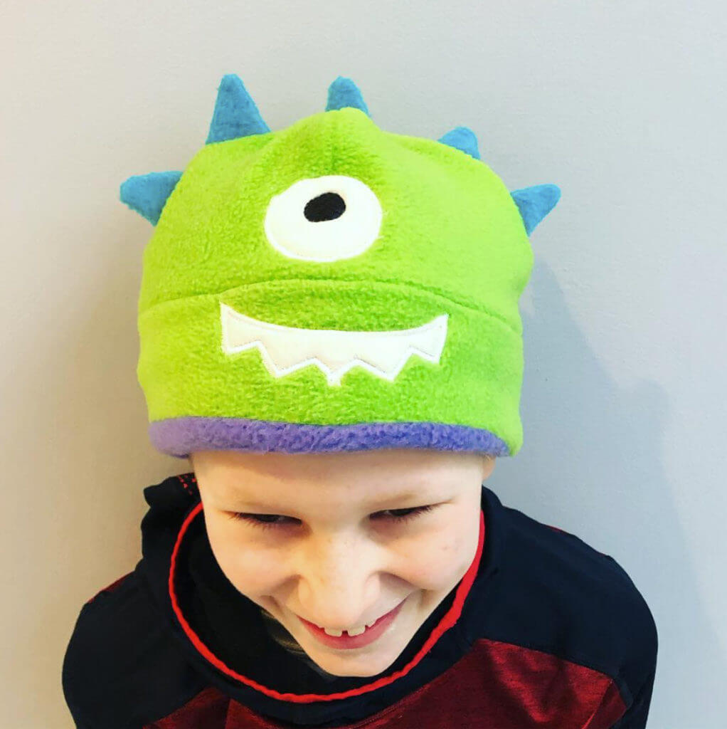 fleece monster hat