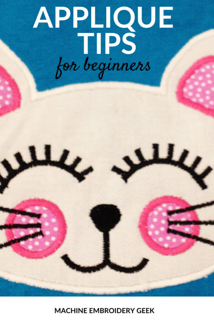applique tips for beginners