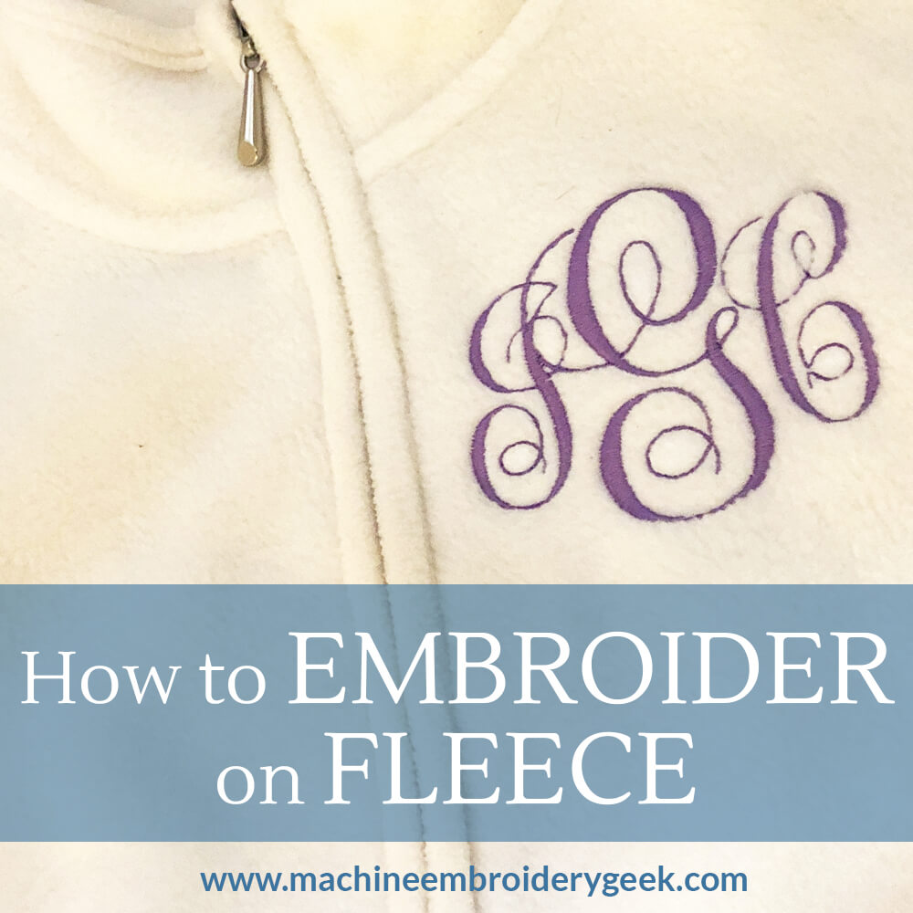 How to embroider on fleece
