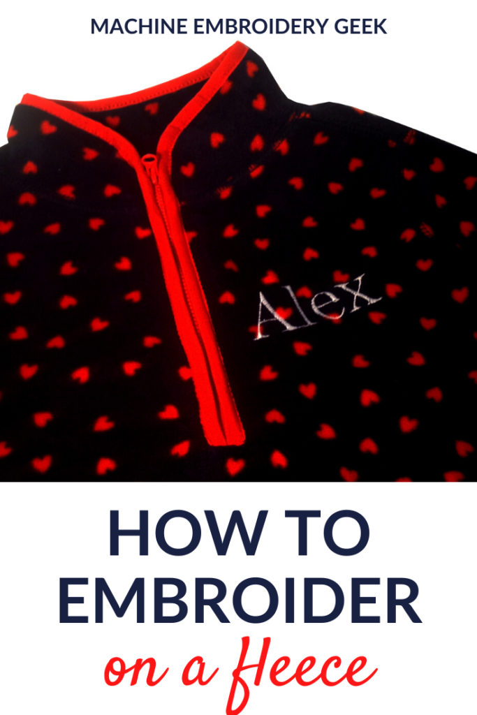 How to embroider on a fleece