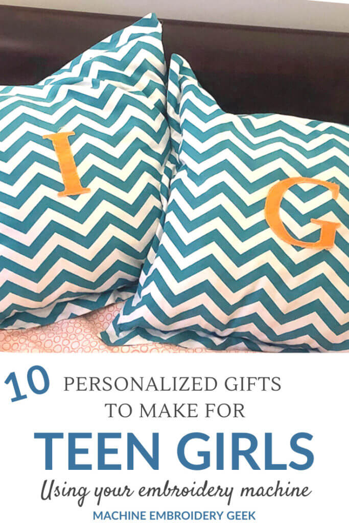 Gifts to make for teen girls using your embroidery machine