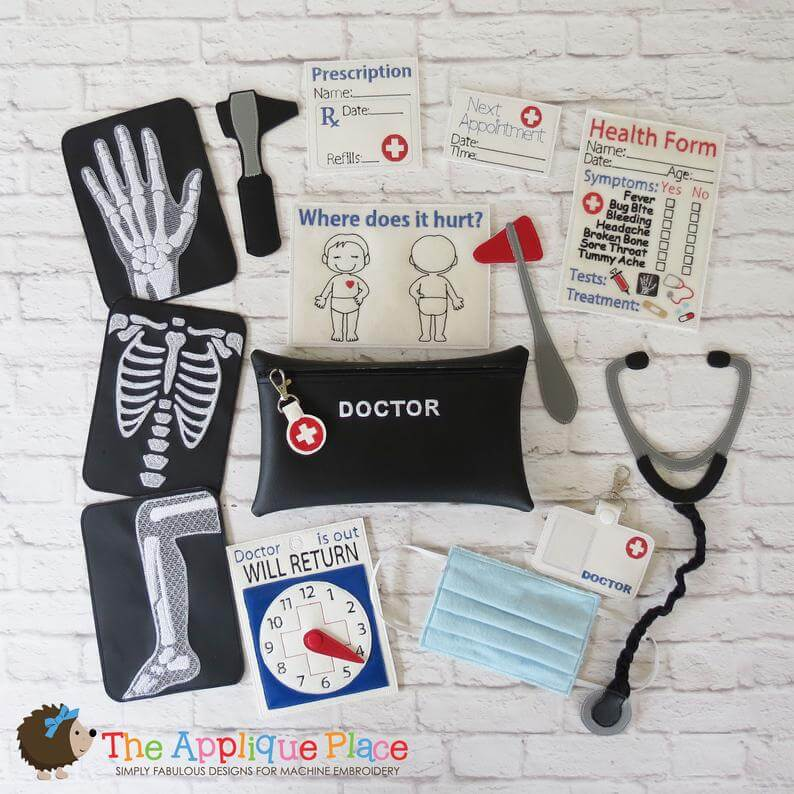 in-the-hoop doctor play set