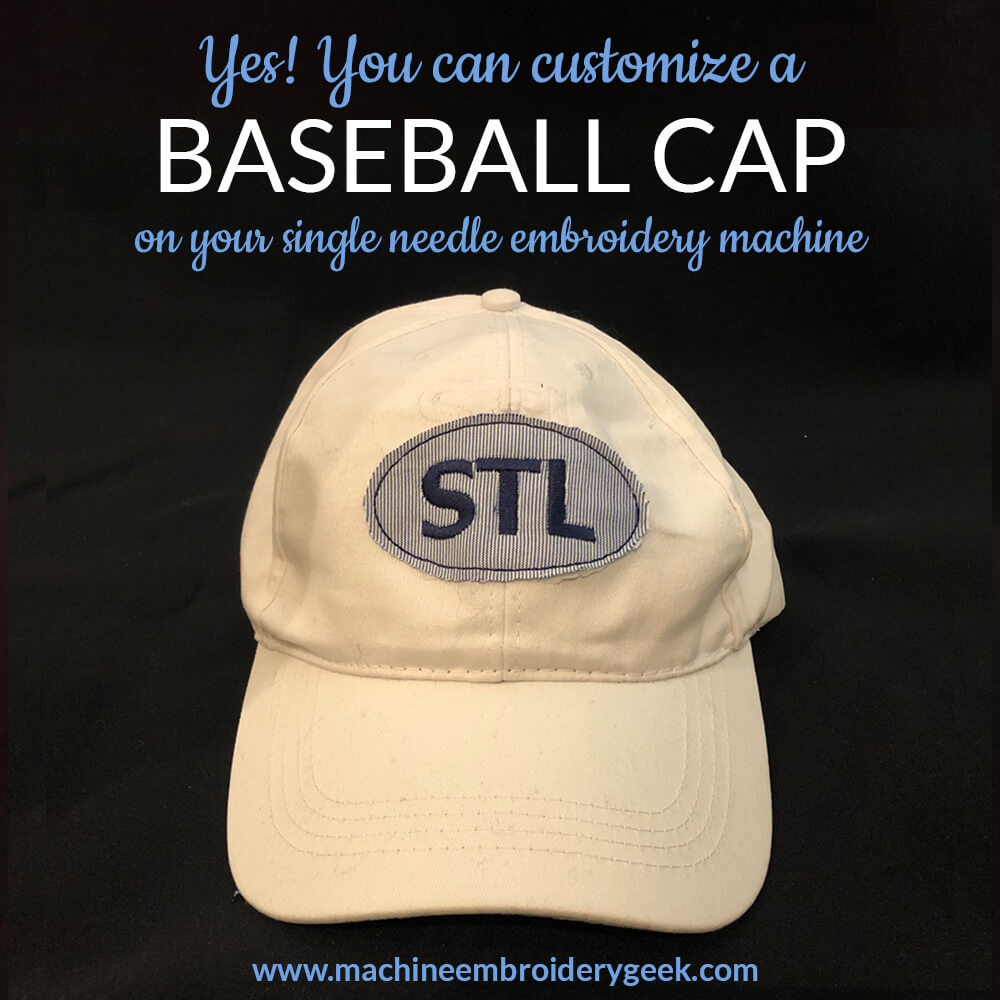 how to embroider on a baseball cap