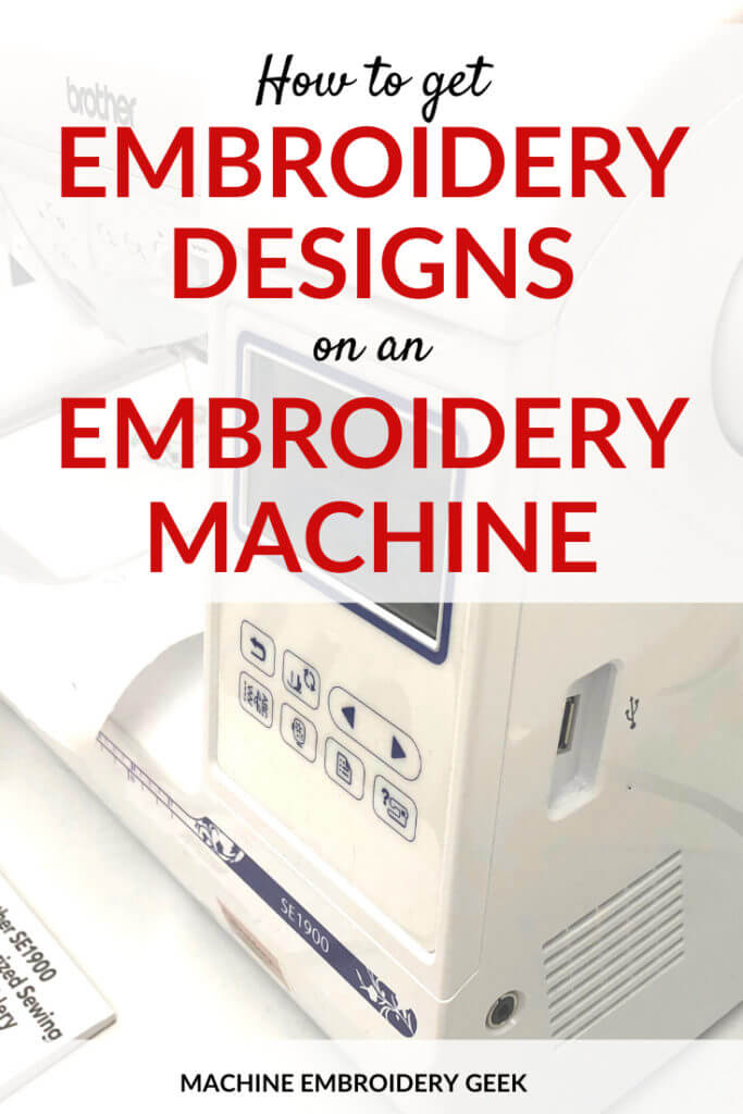 How to get embroidery designs on an embroidery machine