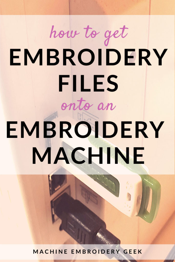 how to get an embroidery design on an embroidery machine