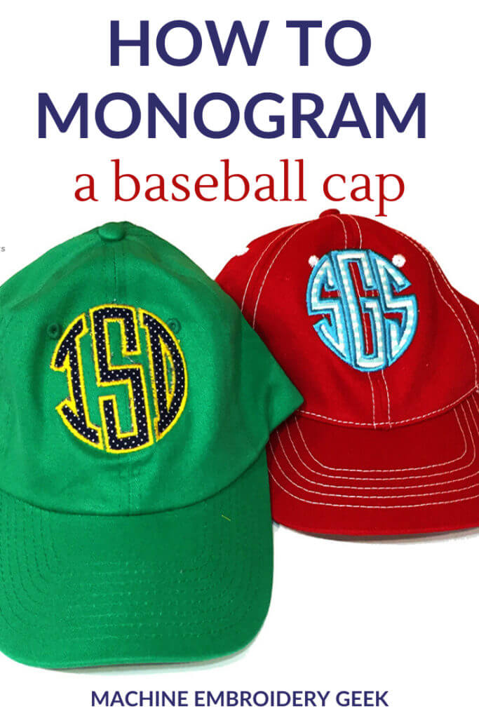 how to monogram a baseball cap