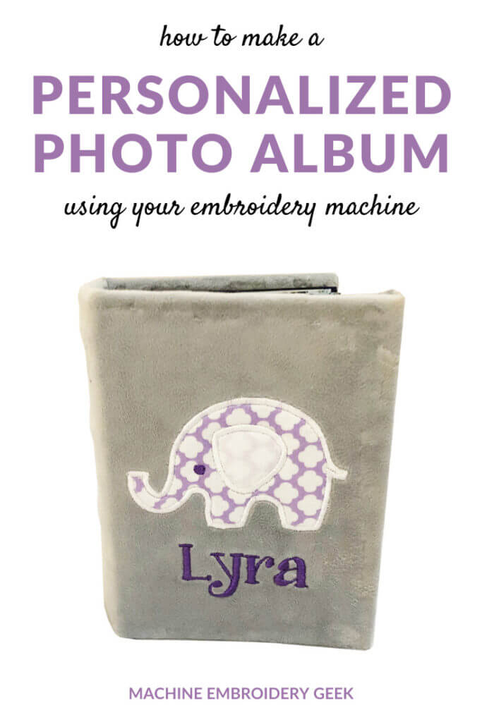 How to make a personalized photo album using your embroidery machine