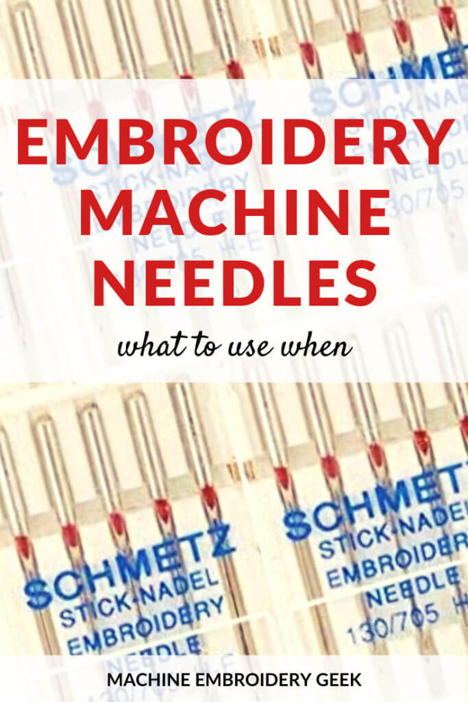 Embroidery machine needles - what to use