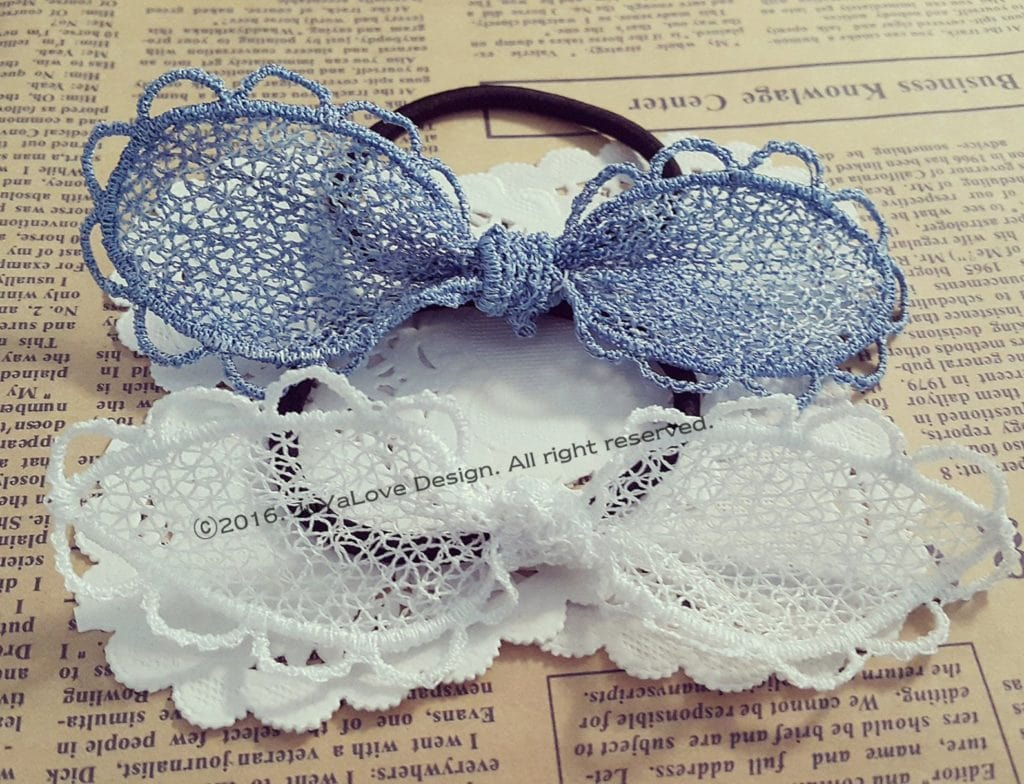 free standing lace hair bows