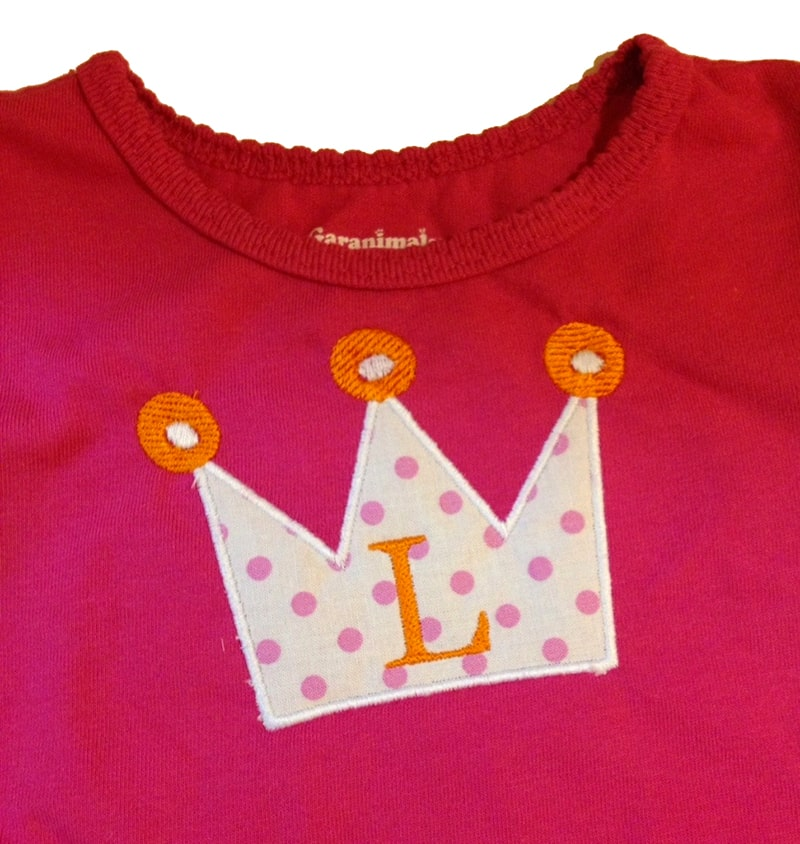 This crooked applique crown couldn't be fixed