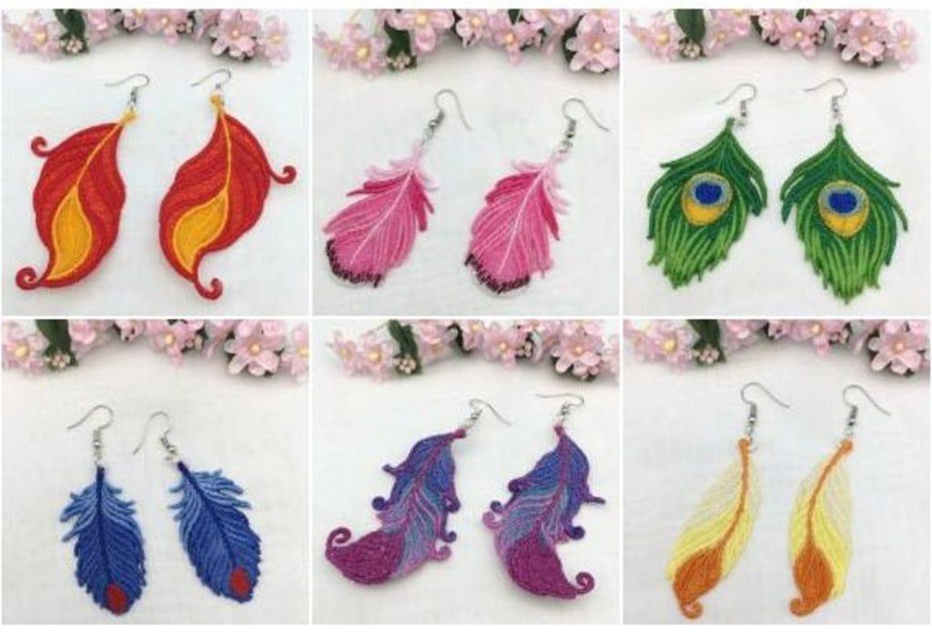 FSL feather earrings