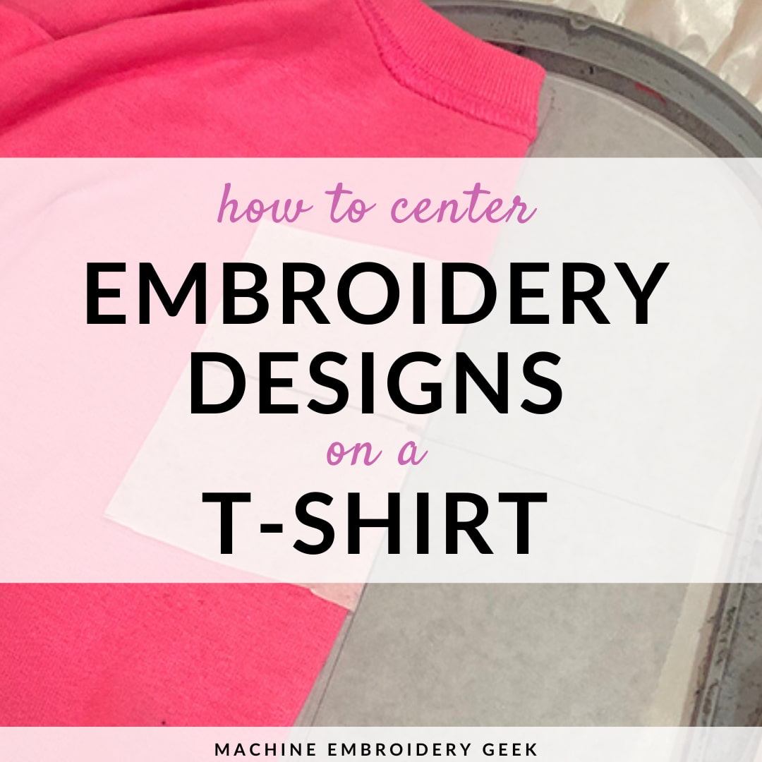 How to center embroidery designs on a t-shirt