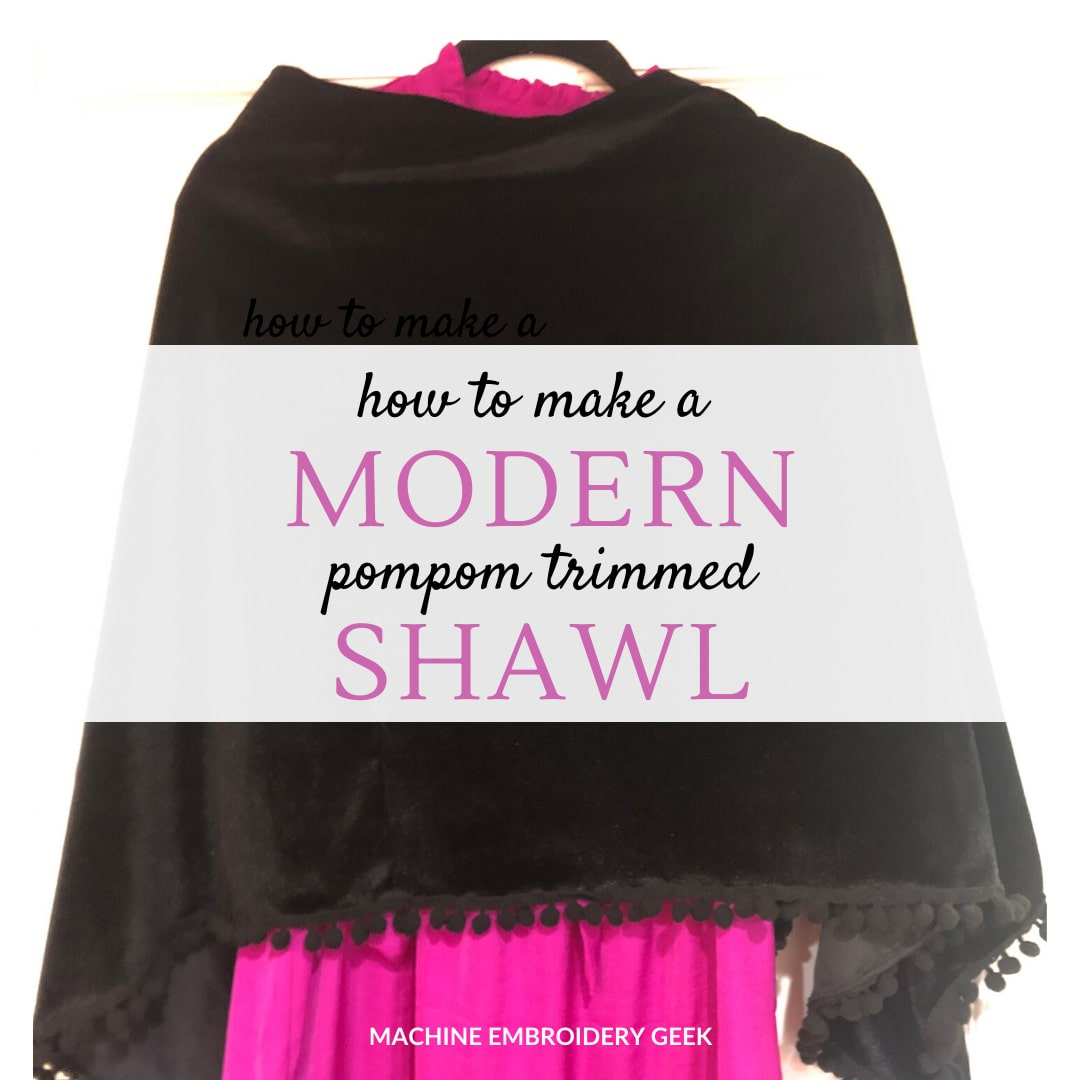 how to make a shawl with pompom trim