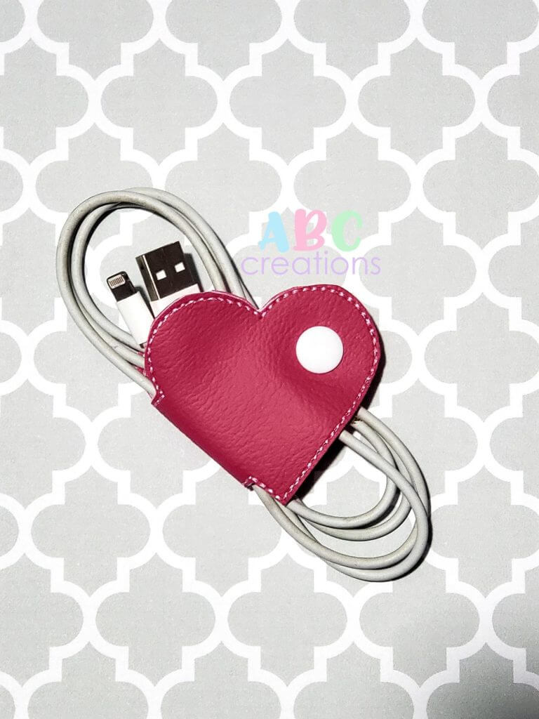 Valentines earbud holders from ABC Creations