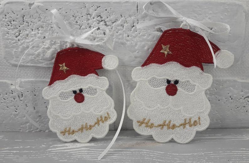 Santa free standing lace