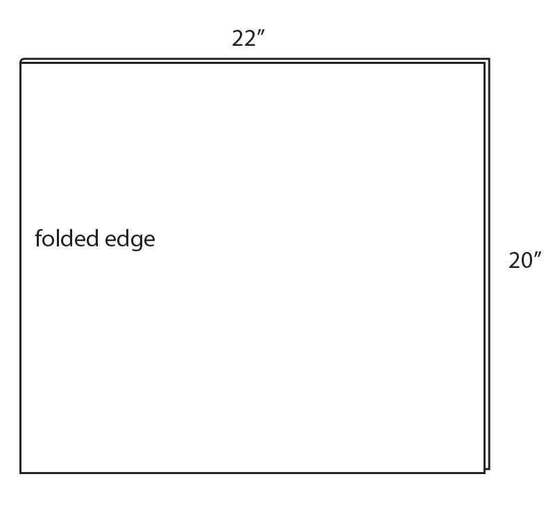 fold the fabric in half