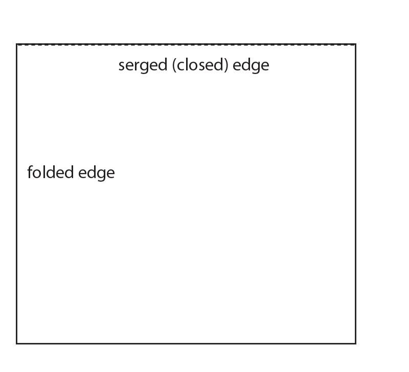 Serge top edge of shawl