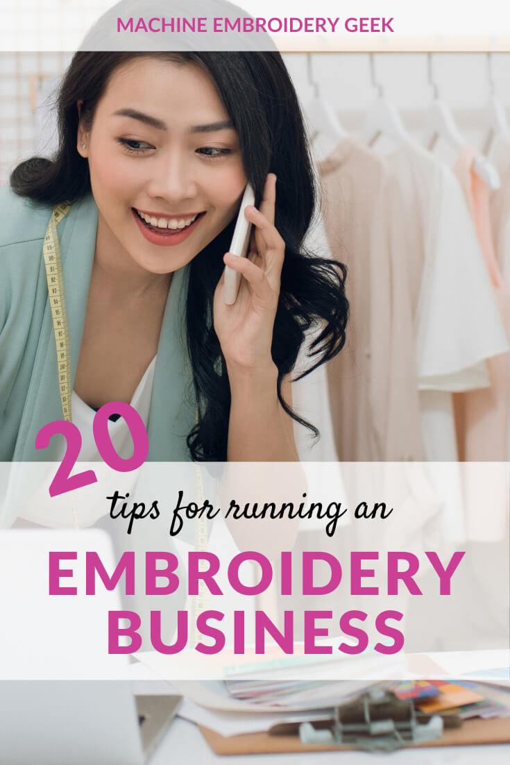 Tips for running an embroidery business