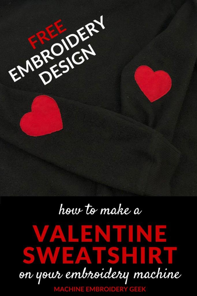 Valentine sweatshirt - free heart applique design