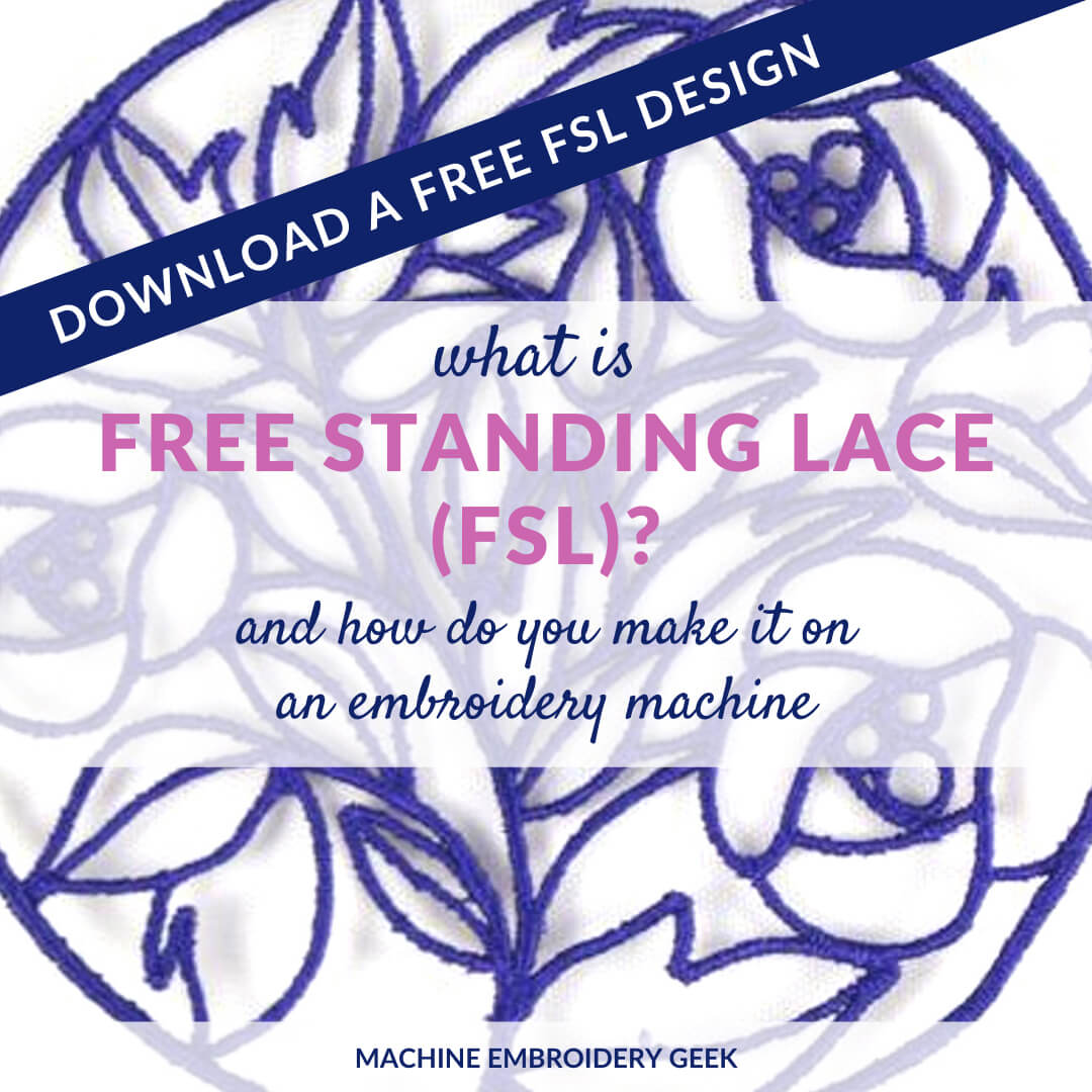 What is free standing lace or FSL?