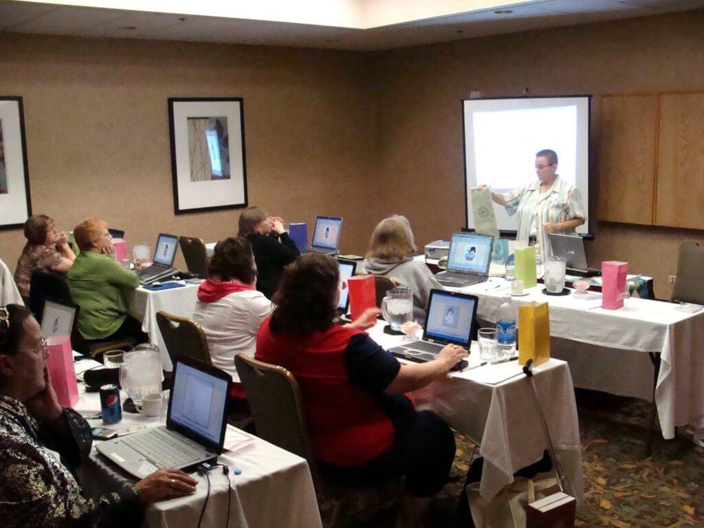 Holly teaching a digitizing class