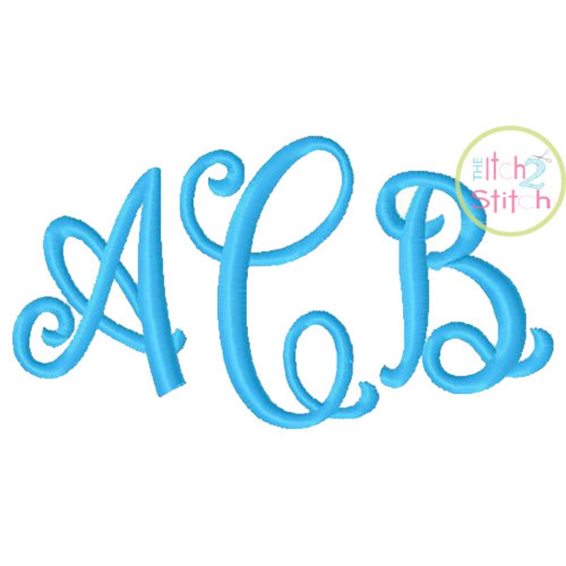 Curtsy Itch to Stitch Monogram