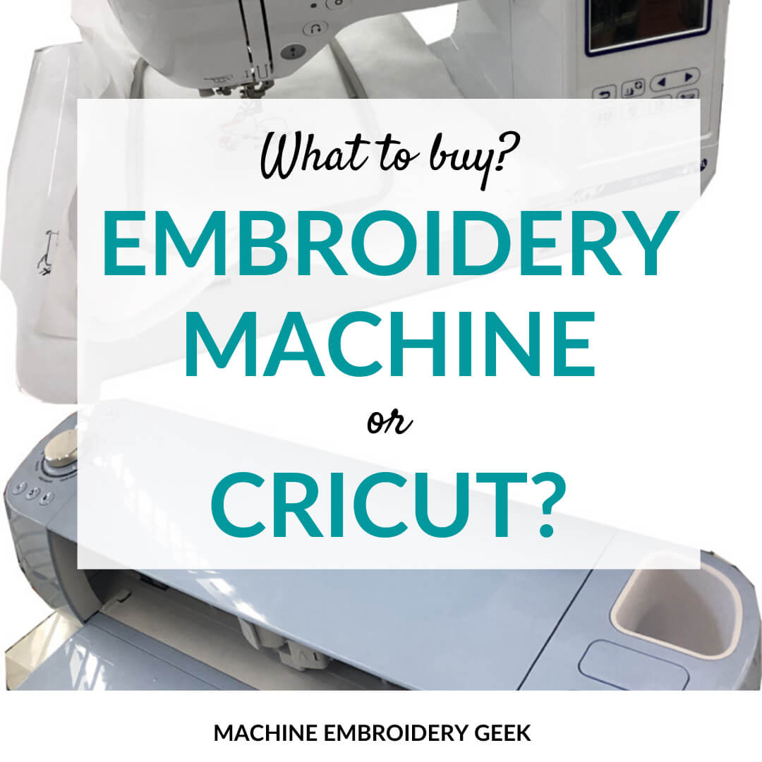 Embroidery machine or Cricut: which one should you buy?