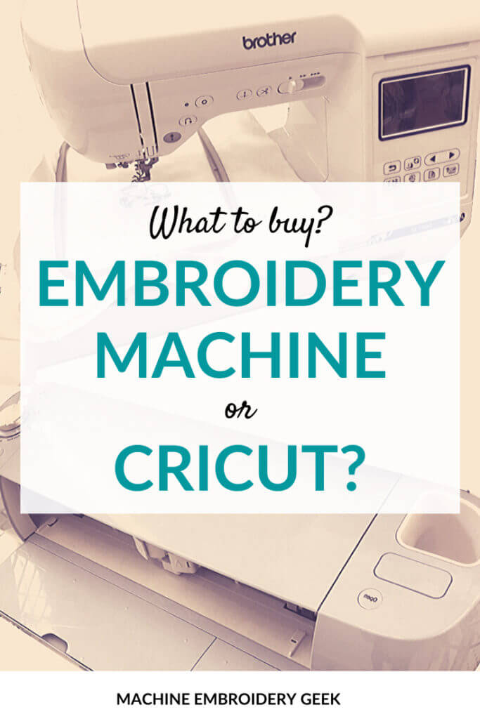 Embroidery machine or Cricut