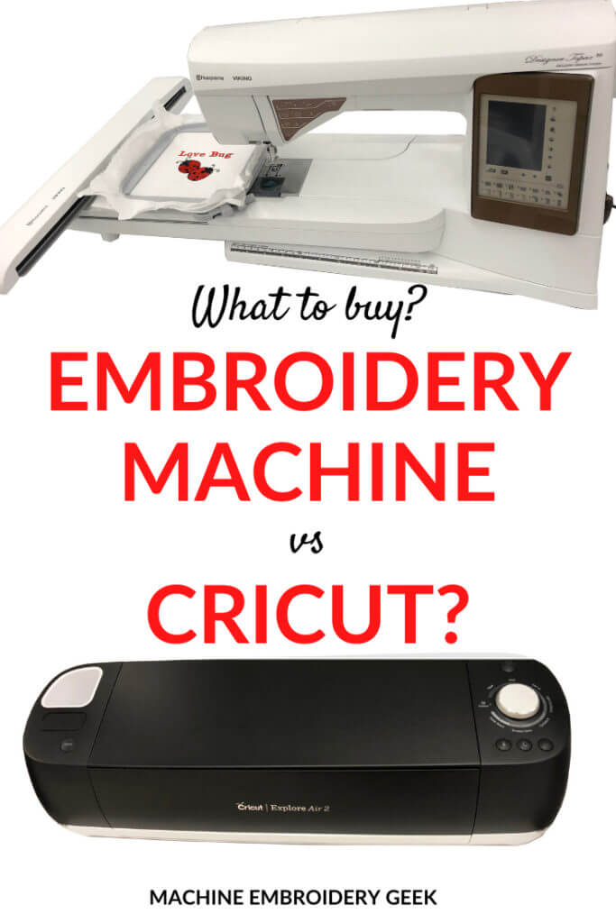 Embroidery Machine vs. Cricut