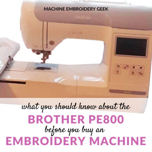 features of the Brother PE800 embroidery machine