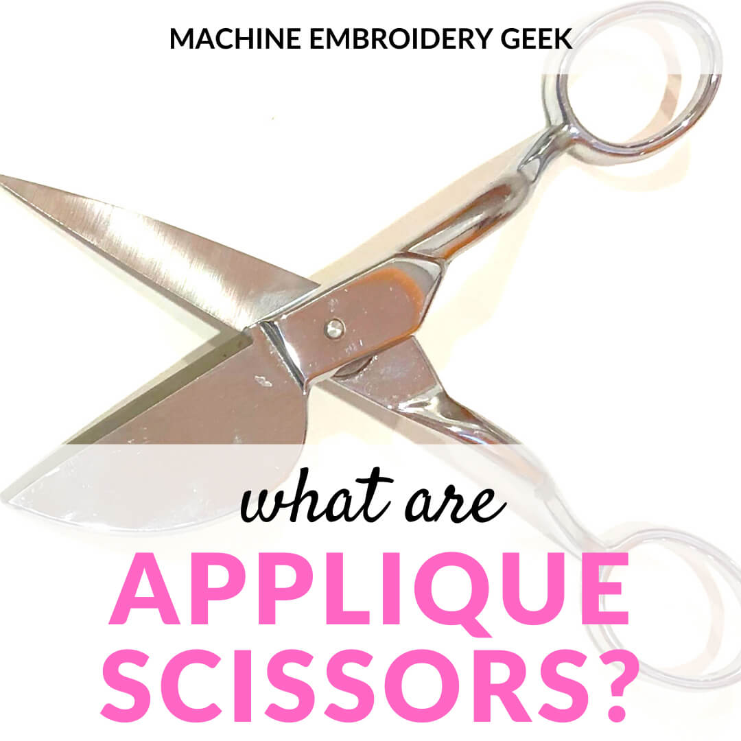 what are applique scissors?