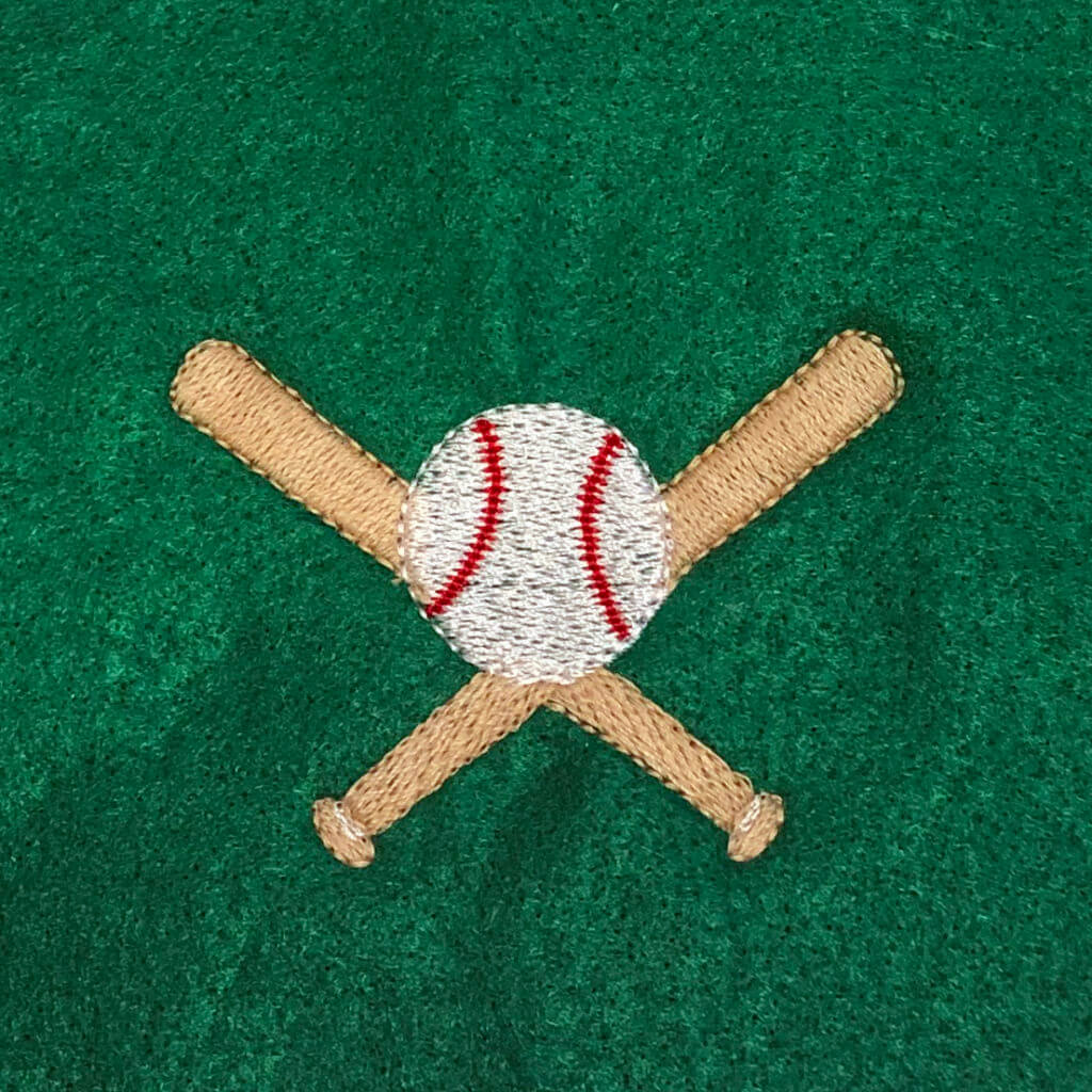 baseball machine embroidery design