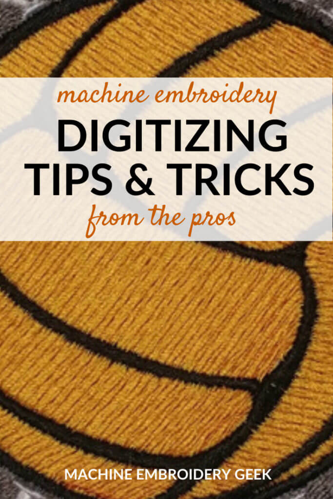 Machine Embroidery Digitizing tips and tricks from the pros