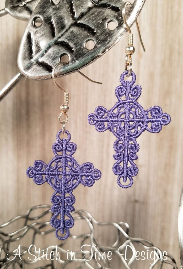 FSL cross earrings