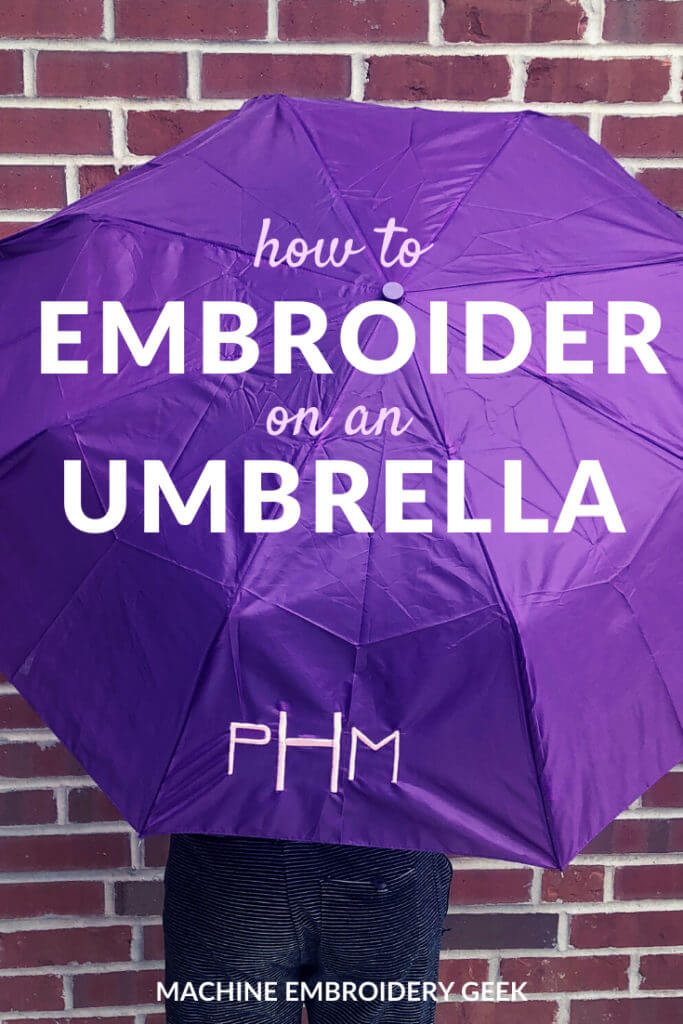 How to embroider on an umbrella